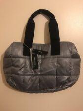 DKNY. Metalic silver Handbag.Quilted. Padded.Bowler.Shoulder.Tote.Messenger.New.