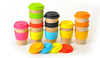 Reusable Travel Cup - Rice Husk/Bamboo Eco-Friendly - OLPRO