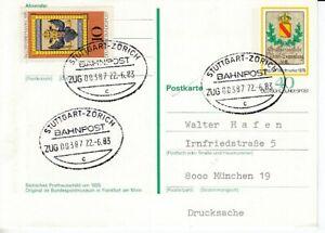 Bahnpost   Stuttgart - Zürich  1983