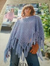 Baby Girls 0 to 7 yrs hooded Poncho KNITTING PATTERN Sunuggly Crofter DK 1316