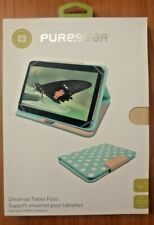 PureGear Universal Tablet Folio for 10 Inch Devices - Teal / White Polka Dots