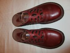 Clarks 71868 mules shoes dark red leather size 8 M USED EUC
