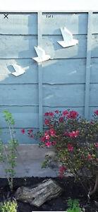 Ceramic Origami 3 Flying Birds for Inside or Outside