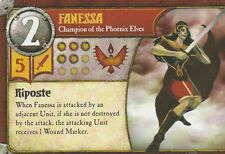SUMMONER WARS CARD - FANESSA - CHAMPION OF THE PHOENIX ELVES