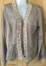 Fransa Sheer Cover Up Lightweight Over Blouse Layering Size L