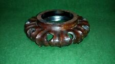 Oriental Carved Wooden Plinth / Base / Display Stand