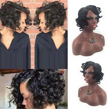 100% Brazilian Virgin Human Hair Short Bob Curly Full Lace Wig Lace Front Wig UK