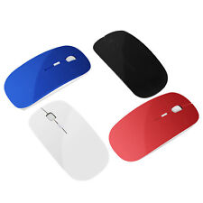 Slim Bluetooth Wireless Mouse Mini Mice 1600 DPI Key For PC Tablet Laptop 4Color