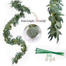 Artificial Eucalyptus Garland Faux Silk Leaf Vine Greenery Wedding Party Decor