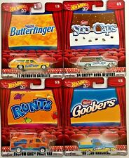 Hot Wheels 2018 Pop Culture Candy Cars #FKY22 1:64 Scale (Set of 4)