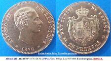 Año 1878 DEM. BONITA MONEDA de 25 pesetas. Alfonso XII - ORO  Peso 8,06 gr.