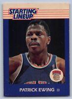 1988  PATRICK EWING Kenner Starting Lineup (SLU) Basketball Card NEW YORK KNICKS