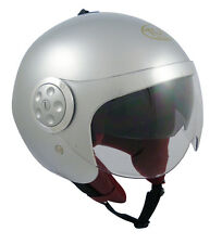 Casque casco helmet jet TORX JAMES SILVER XXL 63 64 HOMOLOGUE