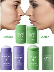 Green Tea Purifying Clay Stick Mask Oil Control Anti-Acne Eggplant Fine Solid OK