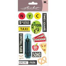 EK SUCCESS STICKO THE BIG APPLE NEW YORK CITY TRAVEL VACATION SCRAPBOOK STICKERS