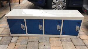 Metal Work Locker Lockable 4 Door Staff Gym Lockers Cabinet Unit 115CM Wide
