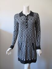 MISSONI for Target Famiglia Black White Polo Sweater Shirt Dress S