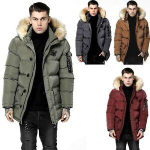 SIKSILK Mens Shiny Puff Parka Jacket  Hooded (Size - XS to XL) *RRP £𝟷̶𝟷̶𝟶̶