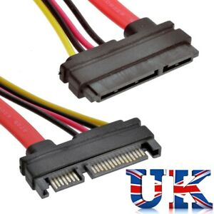22 Pin 7 + 15 Male to Female Serial ATA SATA Data Power Combo Extension Cable UK