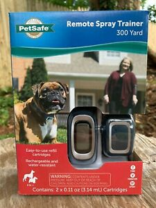 Petsafe Remote Spray Dog Trainer Collar Vibration Tone 300 Yards Citronella