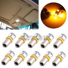 10 Pcs Yellow Light Super Bright 12V T11 BA9S 5050 SMD 5-LED Car Bulb Lamp New