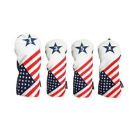 USA 1 3 5 X Headcover Patriot Golf Vintage Retro Driver Fairway Wood Head Covers
