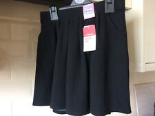 1ec4221b54 M&S Black School Skirt, Cotton Rich Knitted Skirt with stretch, 12-13 years