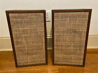 Vintage MCM Dynaco A-25 Speakers A25 Made In Denmark Original Mid Century Modern