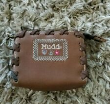 Adorable Boho Chic MUDD Zip Pocket Wallet Brown Leather Coin Change Purse