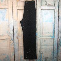 St. John Evening Santana Knit Pants Size 6 Bling