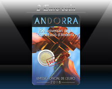 ANDORRA 2 EURO 2018 (25th anni. Andorran Constitution) Commemorative coins * BU