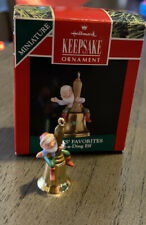Vintage Hallmark Keepsake Ornament Miniature Ring-A-Ding Elf 1991 Chad