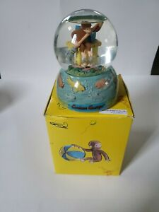 Westland Curious George Musical Snow Globe Down By Old Mill Stream RARE In Box