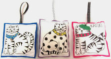 "Set 3 Handmade Cats Ornaments 4""x6"" Fabric Bowl Fillers Cat Lovers Gift!"