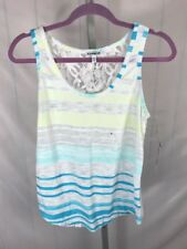 NWT Express Women's Tank Top Shirt Striped Floral Back Size M Retail $34.90 (AE)