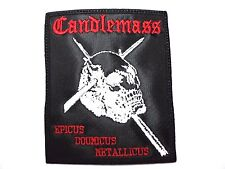 CANDLEMASS EPICUS DOOMICUS METALLICUS     EMBROIDERED PATCH