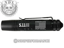5.11 TMT PL Tactical Durable LED Flashlight Plain Black Pro Infidel US Flag
