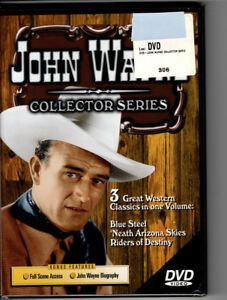 John Wayne Collection, 3 Westerns, DVD, Blue Steel, Riders of Destiny, more, New