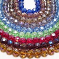 Lot de 500 Perles à facettes 6mm en Cristal de Bohème Finition AB