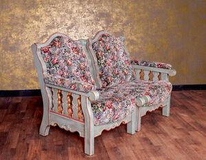 Voglauer Anno 1700 Altblau Sofa 2-Sitzer Couch Landhaus Massiv Antik Stil bemalt