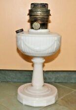 Vtg Antique Aladdin Lincoln Drape Alacite Glass Stand Oil Lamp Model B Burner