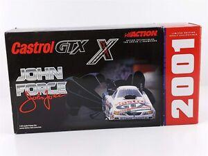 Action John Force CASTROL 10x Chrome MUSTANG FUNNY CAR NHRA 1:24 2001 NIB
