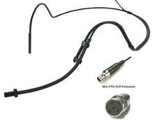 Mini Headset Microphone Light Slim Compact for Shure Wireless L UT ULX SL PG GL