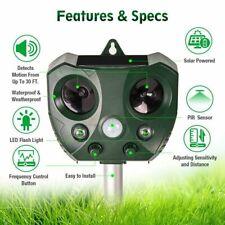 Solar Ultrasonic Pest Animal Repeller Bird Cat Rat Dog Repellent For Garden