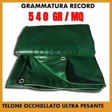 TELO TELONE OCCHIELLATO IMPERMEABILE IN PVC 540 gr CON OCCHIELLI ULTRA PESANTE