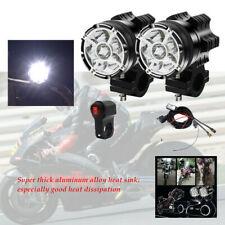 Motorcycle external LED headlights lampshade 9 lights X2+ harness set IP67 level