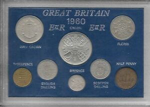 1953 to 1967 Elizabeth II Complete Cased Year Sets Very Fine or Better Condition
