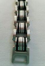 Stainless steel heavy link 9 inch men's bracelet