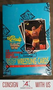 1990 CLASSIC WWF WRESTLING UNOPENED SERIES 1 WAX BOX BBCE AUTHENTIC A5461