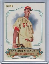 2011 Topps Allen and Ginter Rip Card AROLDIS CHAPMAN #70/99 #90 (Ripped) (7820)